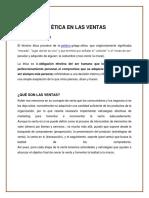 La Ética en Las Ventas. Grupo 8