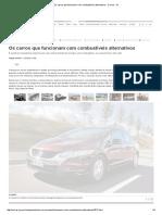Os Carros Que Funcionam Com Combustíveis Alternativos - Carros - IG