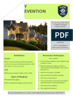 Burglary Crime Prevention Bulletin