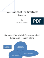 Eight Habits of the Greatness Person