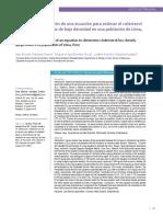 Derivación y Validación de Una Ecuación Para Estimar El Colesterol