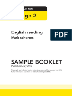 Sample Ks2 Englishreading Markscheme