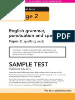 Sample Ks2 EnglishGPS Paper2 Spelling Instructions