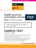 Sample Ks2 EnglishGPS Paper1 Questions Instructions