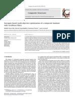 Surrogate-based Multi-objective Optimization of a Composite Laminate With Curvilinear Fibers