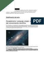 Escepticismo Lenguaje Propio o Impropio Del Conocimiento Científico