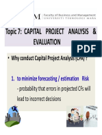 Slides. Topic 7 (Capital Project Analysis n Evaluation)