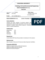 BCEE 452 ENGR 6511- Course Outline