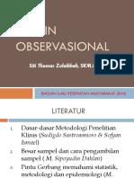 2. Desain Penelitian Obeservasional (Siti Thomas)