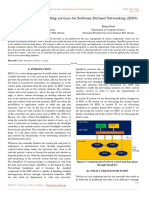 Various Component handling services for Software Defined Networking (SDN)