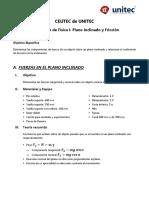 Lab2 Plano Inclinado y Friccion (Física I)