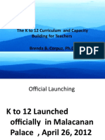 The K to 12 Curriculum  and Capacity Building for Teachers - Dr. Brenda Corpuz, PHD