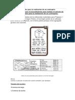 Calculo de Materiales Para La Realizacion de Un Contrapiso