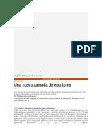Nuevas Voces Narativas en Colombia