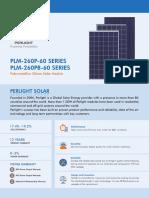 PLM-250P-60 SERIES (240W-260W)