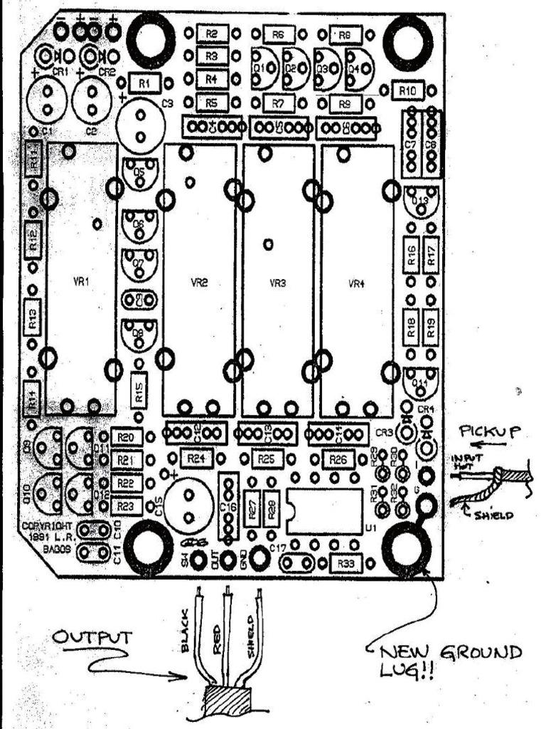 Godin Acoustibass Preamp Wiring Diagram