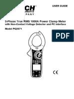 Extech PQ2071 Manual