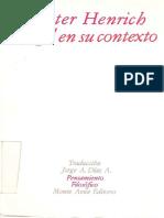 HENRICH, Dieter - Hegel en Su Contexto
