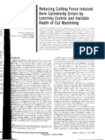 Reducing Cutting Force Induced Bore Cylindricity Errors by Learning Control and Variable Depth of Cut Machining