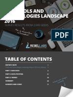 Java Tools and Technologies 2016