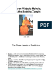 Notes on Rahula, What the Buddha Taught