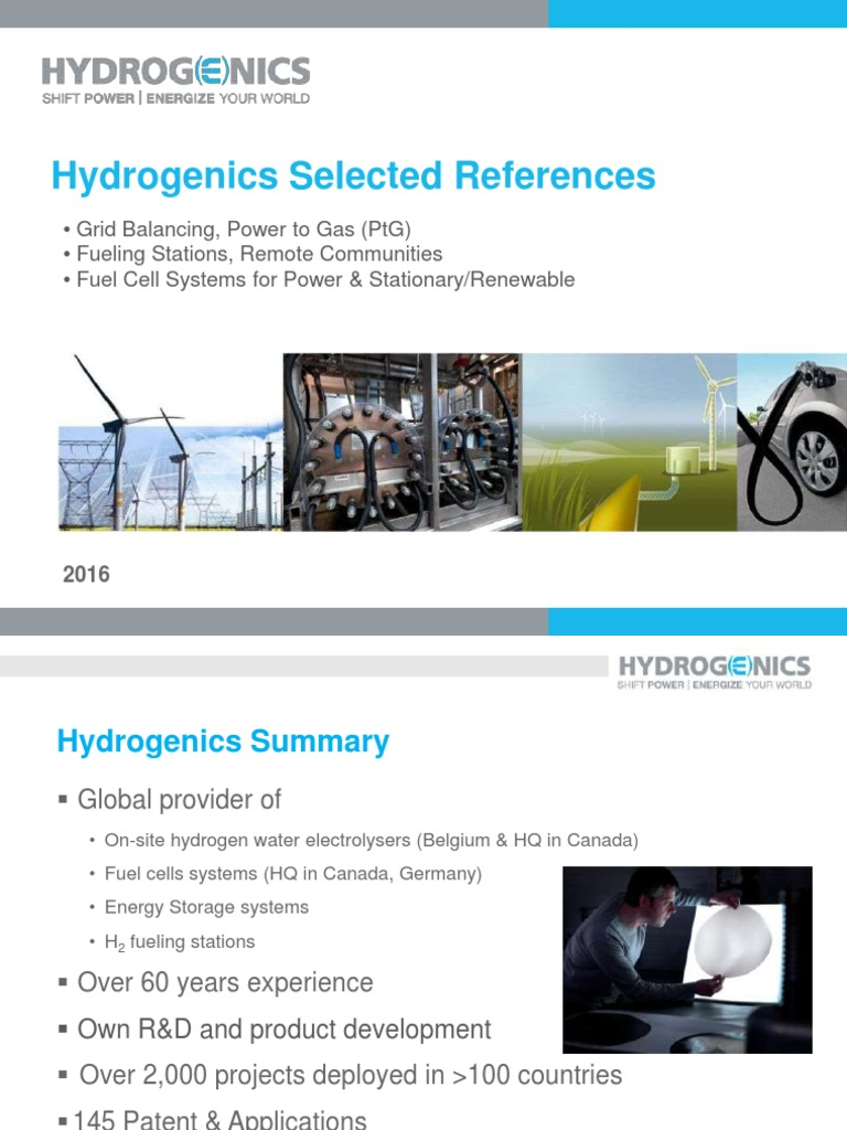 HYDROGENICS (Use for Catalog) (2)   Fuel Cell   Energy Storage