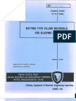 Batting Type Filling Materials