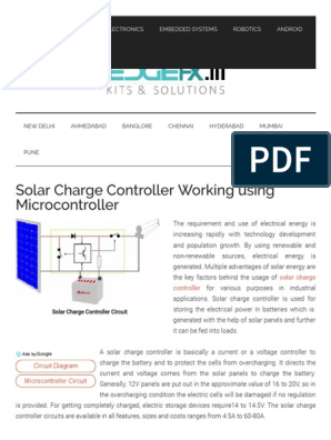 Solar Charge Controller Circuit Working With Microcontroller
