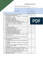 Form Pengendalian RPJM-RKP Desa