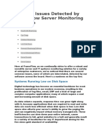 Top Five Issues Detected by FrameFlow Server Monitoring Software