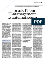 IT4IT Artikel Boardroom - Gebruik IT Om IT-management Te Automatiseren