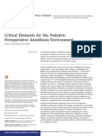 Critical Elements for the Pediatric Peri Op Anaesth