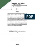 Epistemología ciencia administrativa