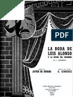 Gimenez - La Boda de Luis d'Alonso No. 4 Intermedio