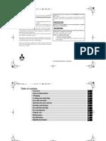 Mitsubishi Outlander PHEV Manual
