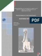 AUDITORÍAS INTERNAS en Los Procedimientos Documentados