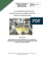 MANUAL DE BUENAS PRACTICAS DE MANUFACTURA EN LA PRODUCCIÓN DE PRODUCTOS DE HELADOS.docx