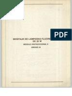 Vol. 34 Montaje de Lamparas Fluorescentes de 20 W Módulo Instruccional 9 Unidad 34