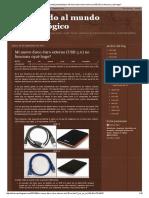 Bienvenido Al Mundo Postanalógico_ Mi Nuevo Disco Duro Externo (USB 3