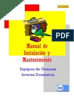 Instalacion Osmosis Domestica