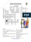 Describing People Crossword