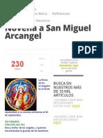 Novena a San Miguel Arcangel » Foros de La Virgen María