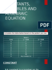 Constants, variables and algebraic equation.pptx