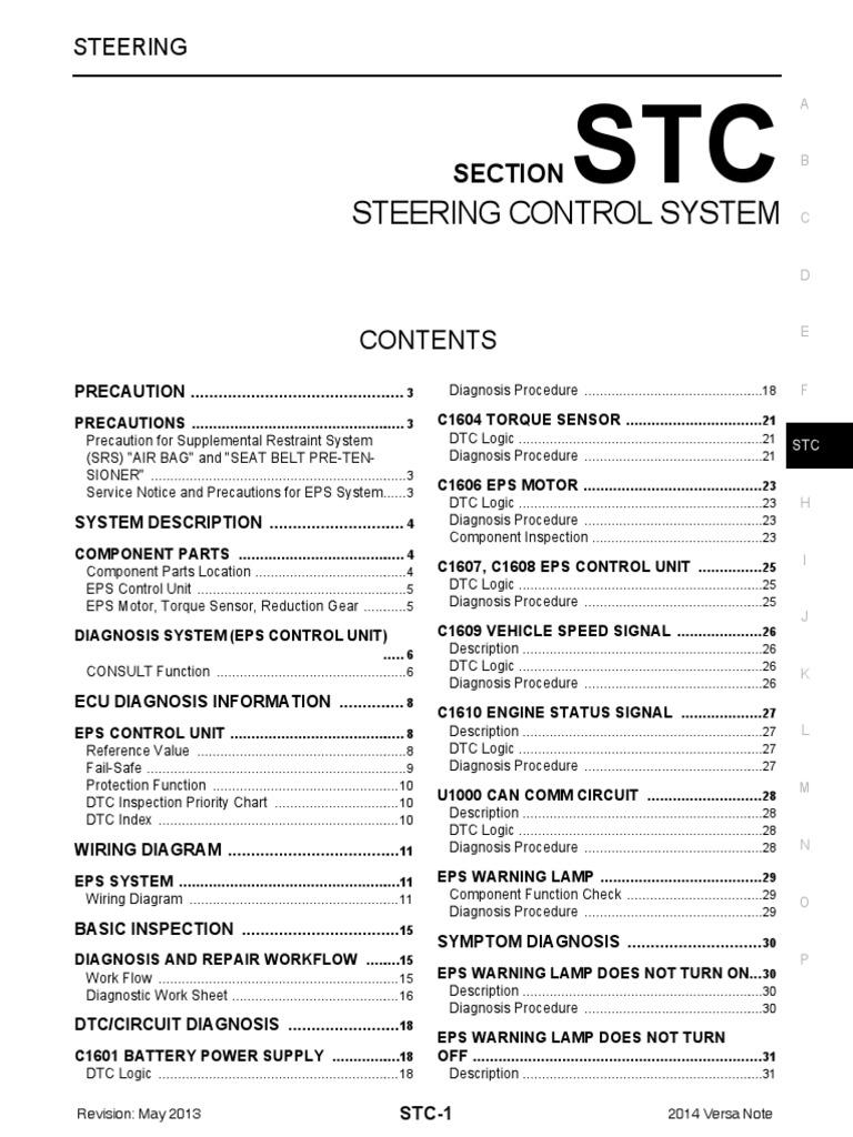 Stc Airbag Steering Wiring Diagram Nissan Versa Note
