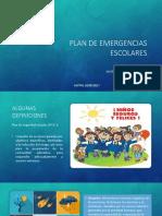 Plan de Emergencias Escolares