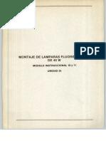 Vol. 35 Montaje de Lámparas Fluorescentes de 40 W Módulo Instruccional 10 y 11 Unidad 35
