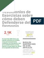 Testimonios de Exorcistas Sobre Cómo Deben Defenderse Del Demonio » Foros de La Virgen María