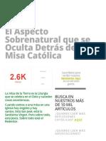 El Aspecto Sobrenatural Que Se Oculta Detrás de La Misa Católica » Foros de La Virgen María