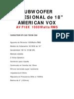A-VOX 1810-1000W