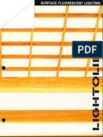Lightolier Surface Fluorescent Lighting Brochure 1988
